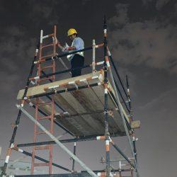 تطبيقات لدورة فحص السقالات  لمشرفي السلامة والصحة المهنية